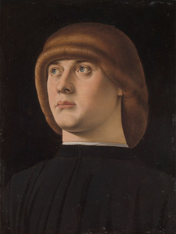 Jacometto Veneziano, Portrait Of A Young Man, 1480s