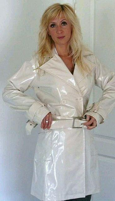 Blonde and Shiny 101.   Pvc raincoat, Plastic raincoat