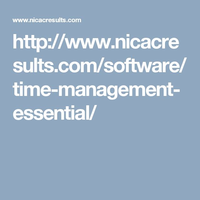 http://www.nicacresults.com/software/time-management-essential/