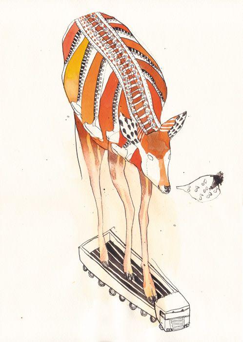 laced-up deer