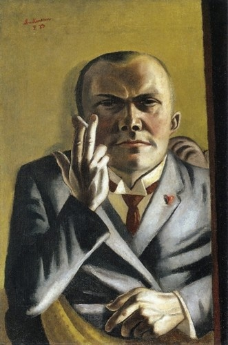 Max Beckmann,Self-Portrait with a Cigarette, 1923