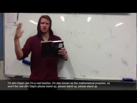 Mathematics Teacher Rap by Mr Appin of Covenant Christian School Sydney