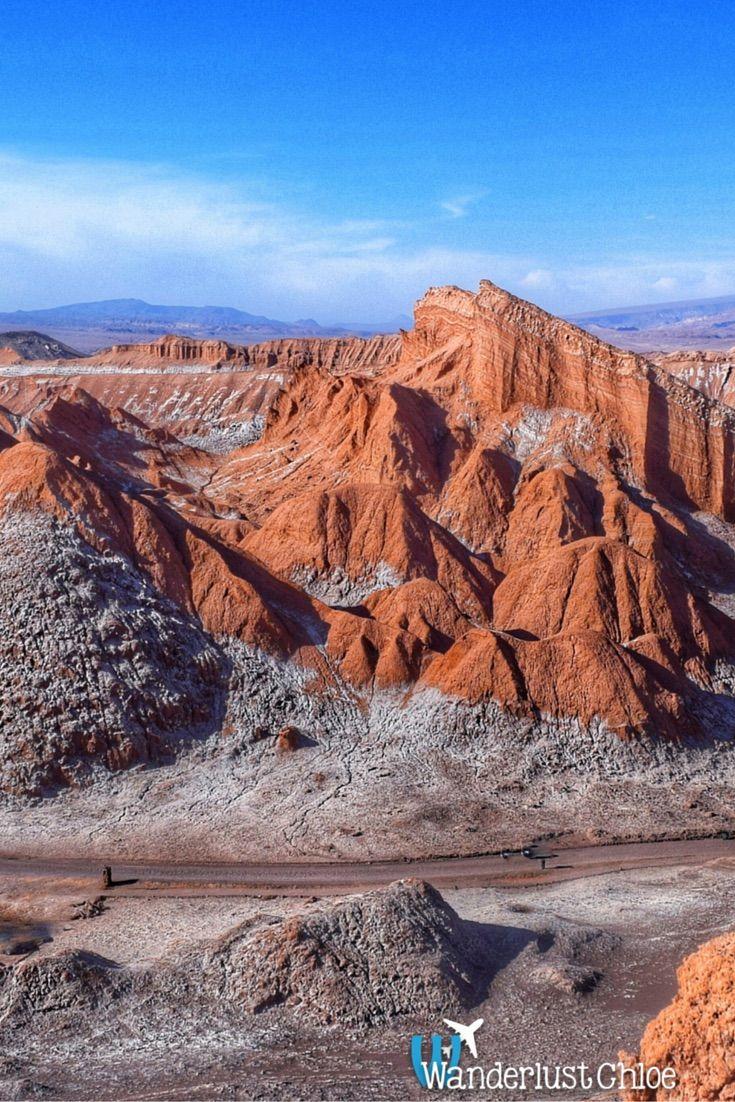 El Valle De La Luna - one of the top places to visit in the Atacama Desert in Chile. http://www.wanderlustchloe.com/2016/05/top-5-places-to-visit-in-the-atacama-desert-chile.html