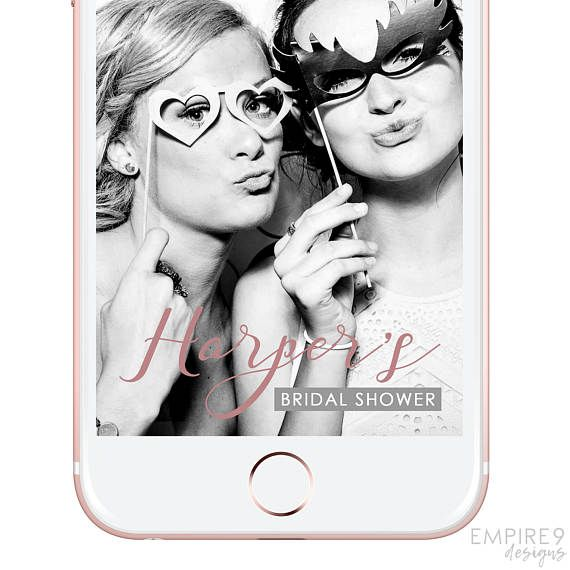 Snapchat Geofilter Bridal Shower, Bachelorette Party, Snapchat Filter Hen's Night, Custom Snapchat Geofilter, Dusty Rose