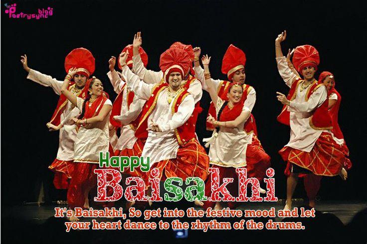 Happy Baisakhi Greeting with Punjabi Bhangra SMS Message