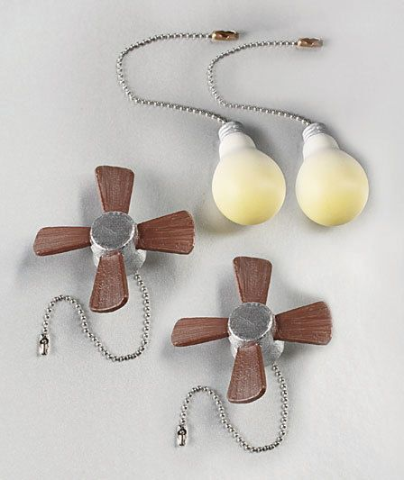 Fan & Light Chains 4 Pull Chains Never pull wrong Ceiling Fan  Or Light…