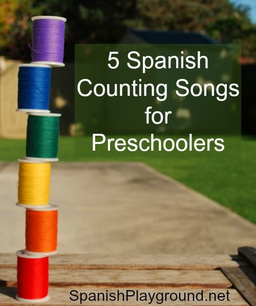 Spanish counting songs that you can combine with actions or objects. These five fun songs are perfect for introducing preschoolers to Spanish numbers.