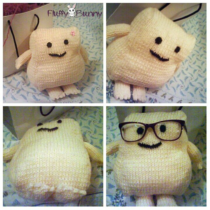 Cute Dr Who inspired adipose! #cute #knitting #DrWho
