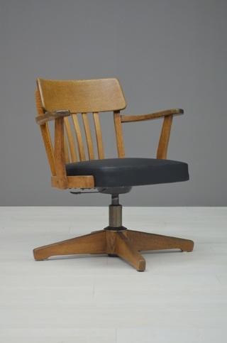 Houten Bureau Stoel.Oude Bureaustoel Old Desk Chair 19839 Huis Meubels Vintage