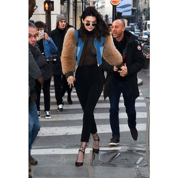 Kendall Jenner At L'avenue Restaurant In Paris January 21, 2017 ❤ liked on Polyvore featuring home and home decor