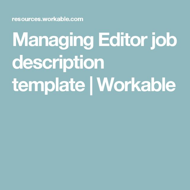 17 Best ideas about Job Description – Executive Editor Job Description
