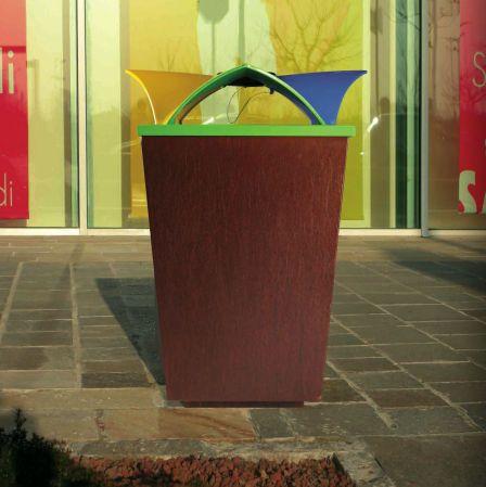 Litter Bin For Public Spaces With Integreted Ashtray ECOMIX By Raffaele  Lazzari METALCO. Street FurniturePublic ...