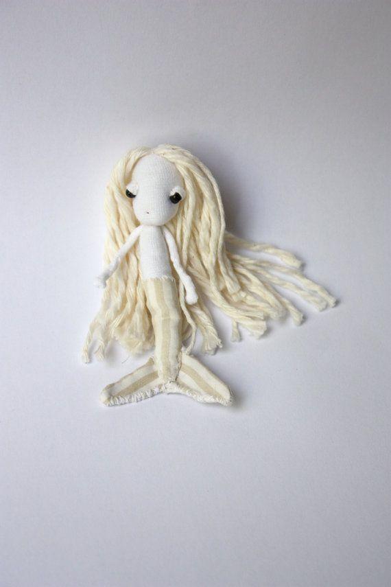 Eco-friendly Mermaid Doll Brooch/Pocket friend by LunateAndTheMermaid