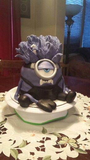 Evil Minion cake; so much fun! February 2015