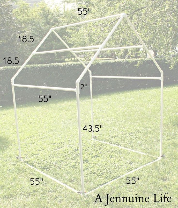 PVC Playhouse & Sunshade: PVC Frame  by Jennifer on July 1, 2013 in DIY, PVC Playhouse, Tutorial  Today I have the first installment of the ...