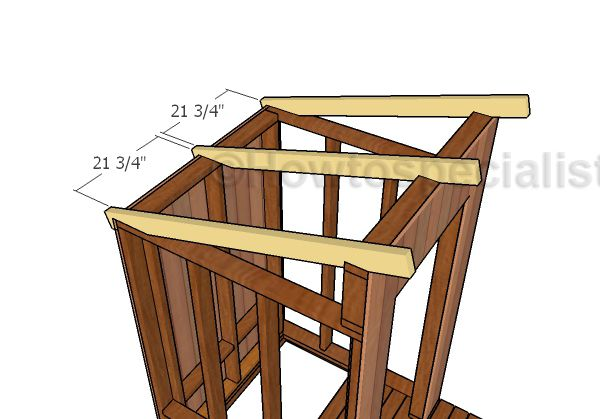 Building An Outhouse Roof Howtospecialist How To Build Step By Step Diy Plans Building An Outhouse Diy Shed Plans Shed Floor Plans
