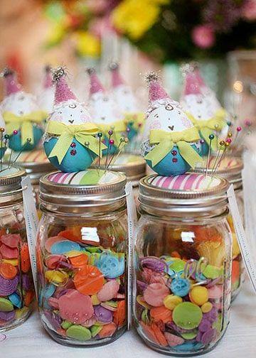 como hacer dulceros para niños con frascos