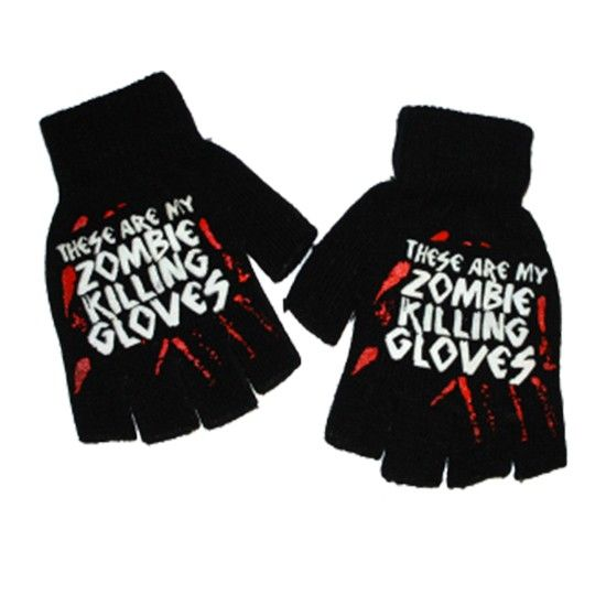 """""""Zombie Killing"""" Gloves by Goodie Two Sleeves #InkedShop #gloves #zombies #winter"""