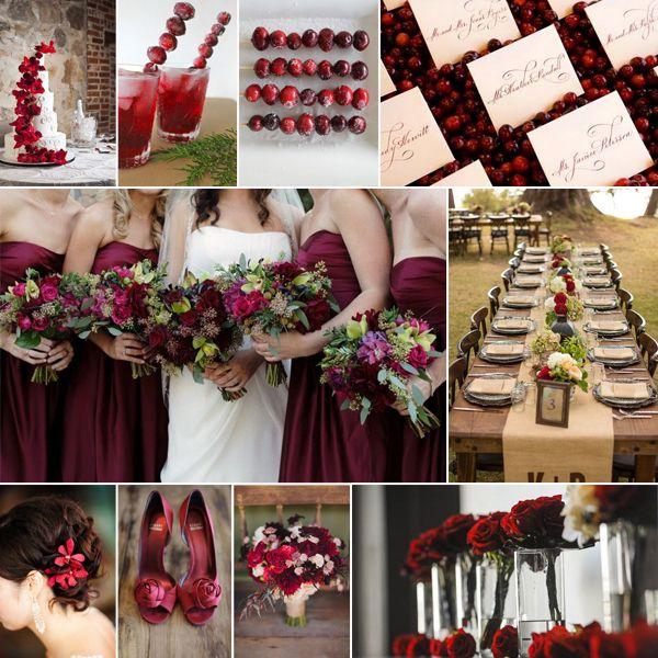 9 Herbsthochzeit Cranberry Rot Rustikal Braun Blumen Dekoration Ideen Trendy Hochzeitsfarben für die ganze Jahreszeit 2014 2015