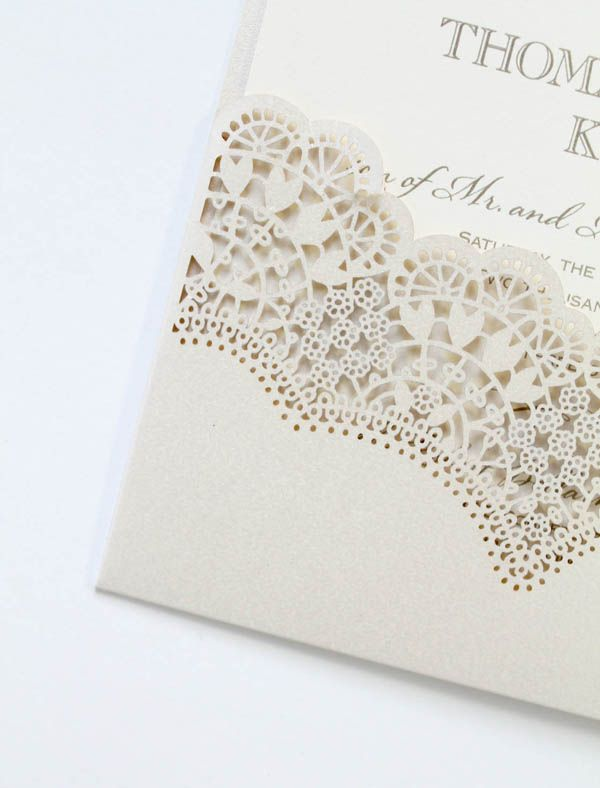 denver custom wedding invitation lace papercutting lasercut save the date