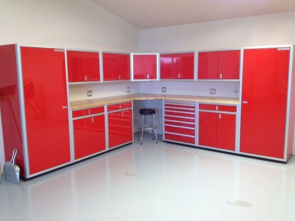 Elegant Corner Garage Storage Cabinet
