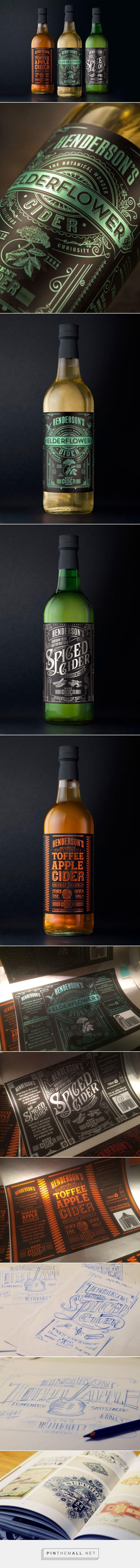 Henderson's #Cider #Packaging designed by Sand Creative - http://www.packagingoftheworld.com/2015/10/hendersons-cider-redesign.html