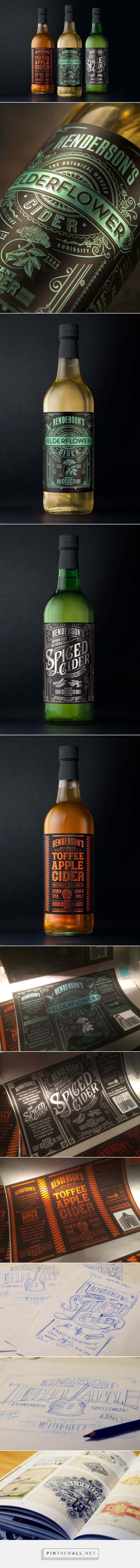 Henderson's #Cider #Packaging designed by Sand Creative - http://www.packagingoftheworld.com/2015/10/hendersons-cider-redesign.html