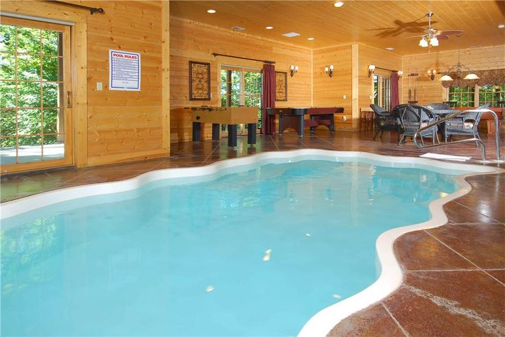 70 best cabins with a pool images on pinterest cabin - Log cabins with indoor swimming pools ...