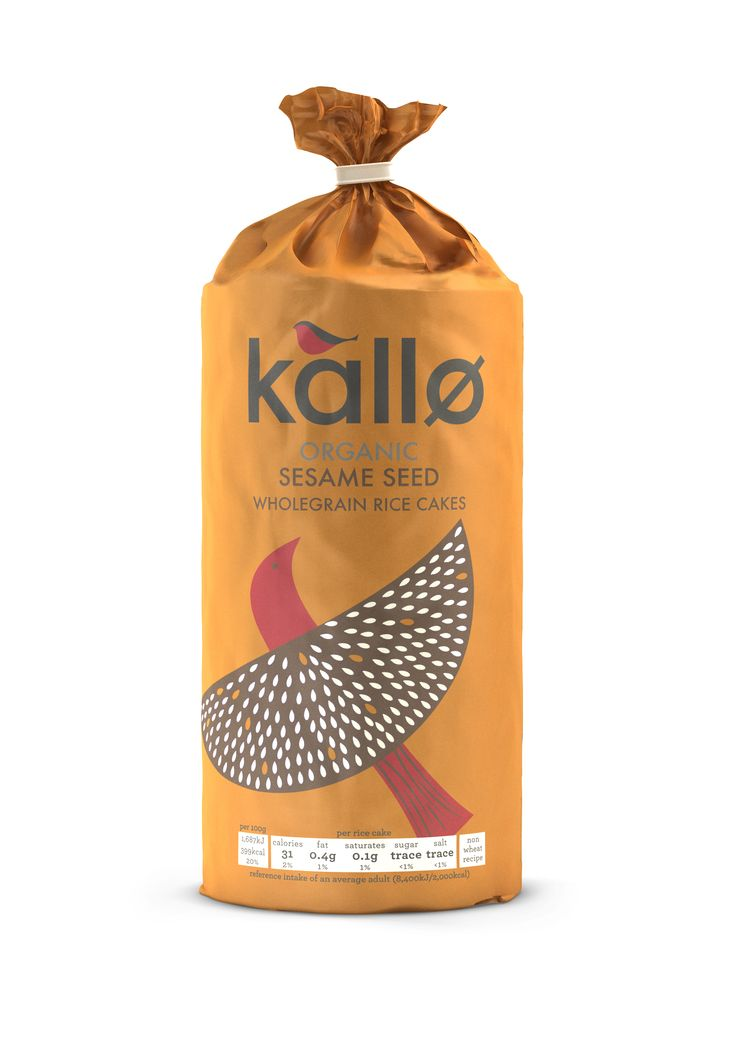 Kallo Organic Sesame Rice Cakes - Add peanut butter and Trewithen Dairy butter (slab of) = perfect breakfast.