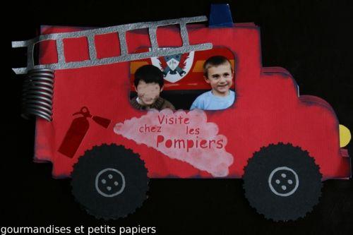 MINI ALBUM CAMION DE POMPIER