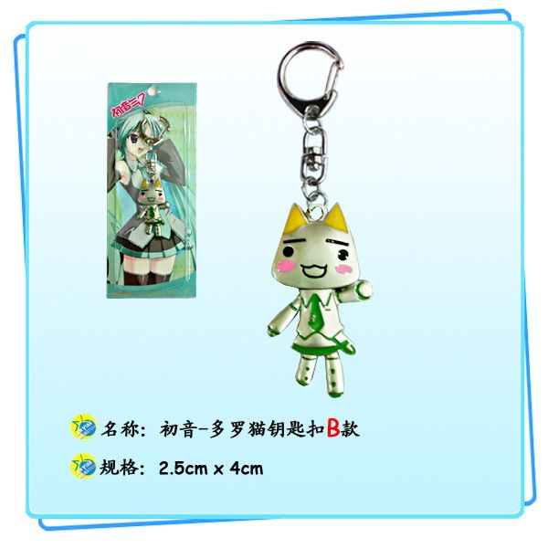 Anime Hatsune Miku Inoue Toro Keychain Metal Key Chain Stainless Steel Pendant Keyring Key Ring For Girls Women KT727