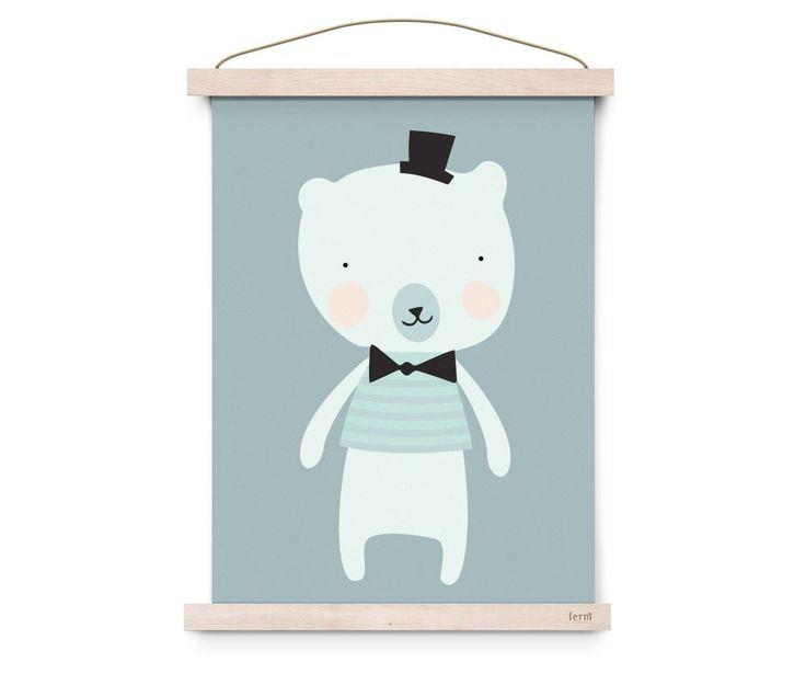 Deze poster uit de serie 'Sweet Animals' met Dandy Mister Polar is een echte eye catcher voor in de baby- en kinderkamer. Ook leuk te geven als cadeau.