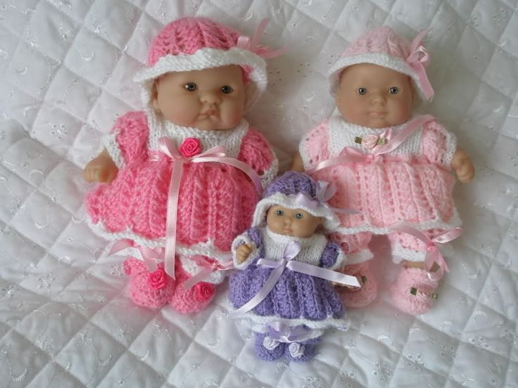Creative dolls designs knitting pattern dress set for 5 8 for 5 inch baby dolls for crafts