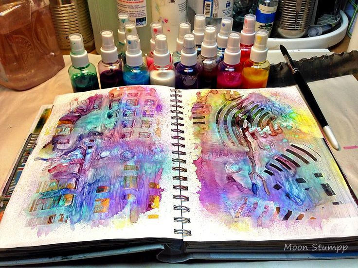 How to make Acrylic Ink Spray...great for mixed media work