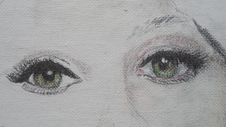 colour on canvas drawing
