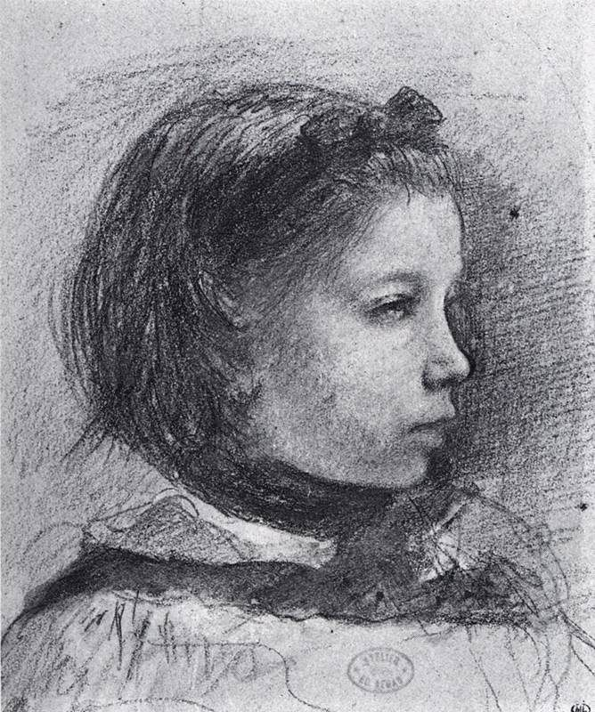 Portrait of Giulia Bellelli, Edgar Degas 1858-59