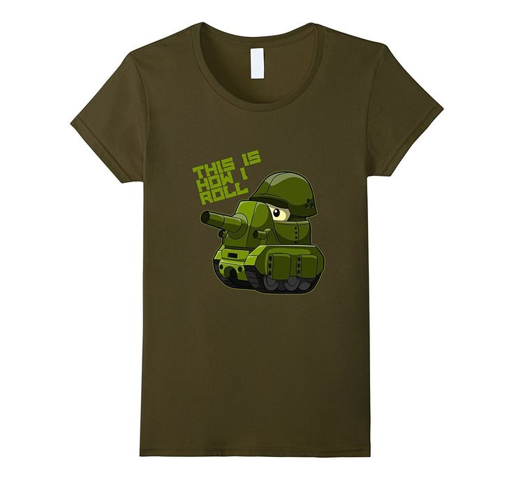 Funny Army Tank T-Shirt - This is How I Roll - Veterans Tee