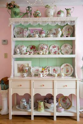 1752 best shabby chic china displays images on pinterest dish sets rh pinterest co uk shabby chic china cabinet makeover shabby chic china set