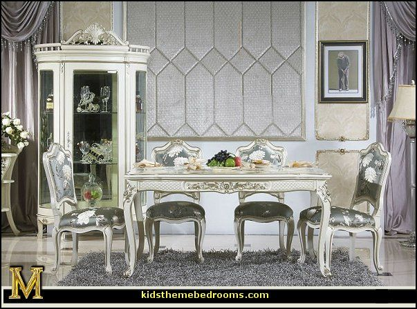 Luxury Victorian Style Dining Table and Chairs