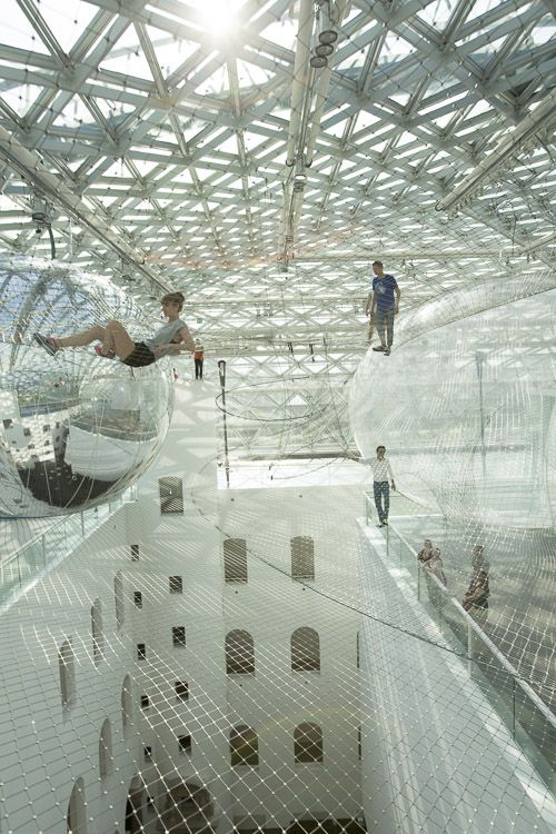 His largest and most ambitious work to date, In Orbit by Argentinian artist  Tomas Saraceno was a huge mesh construction that suspended over 25 meters  above ...