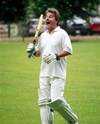 Trevor Eve playing in a charity cricket match.