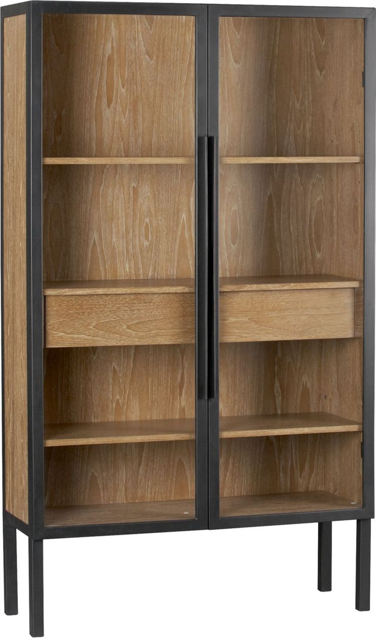 "Warner 2-Door Cabinet in Storage Cabinets   Crate and Barrel   sku 386243   44"" x 15.25"" x 76""   $1,799.00"