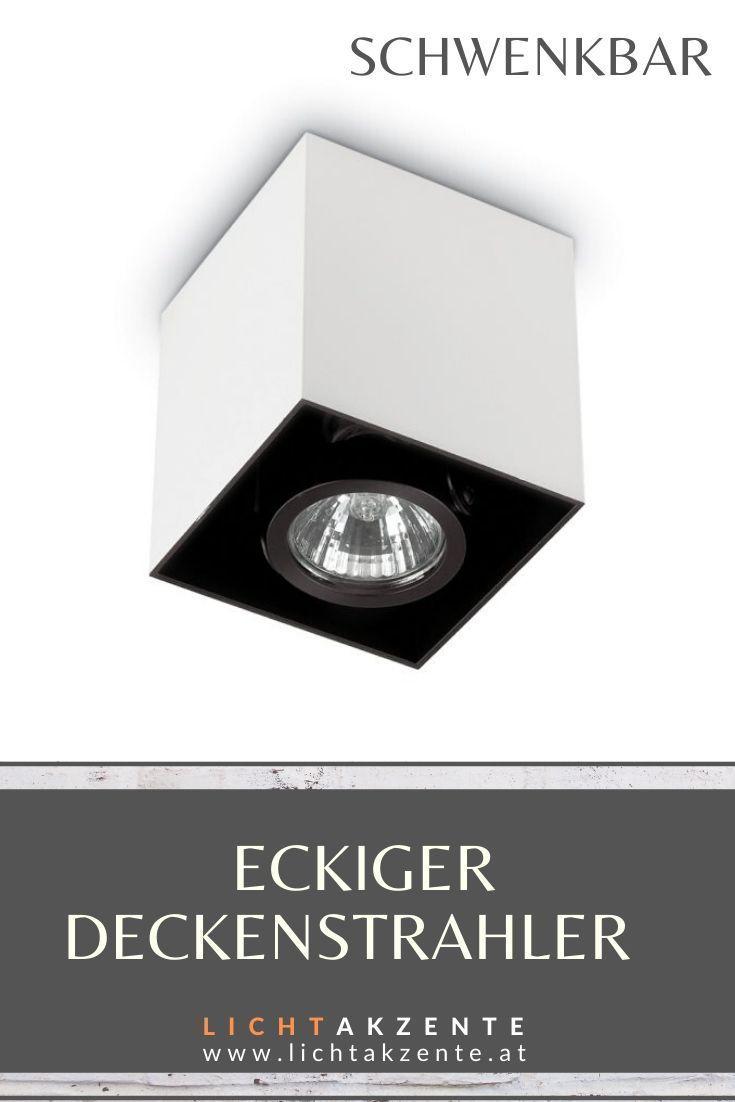 Ideal Lux Eckiger Deckenstrahler Mood Schwenkbar In 2020 Deckenstrahler Beleuchtung Strahler