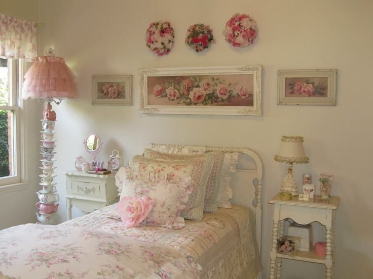 Cute Looking Shabby Chic Bedroom Ideas: 434 Best Bedrooms & Sleepy Places Images On Pinterest