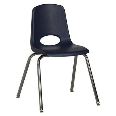 "18"" Plastic Stack Chair with Chrome Legs [Set of 5] Seat Color: Navy  //Price: $ & FREE Shipping //     #home"