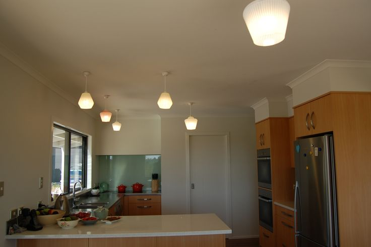 Amazing collection of pendant lighting in this home