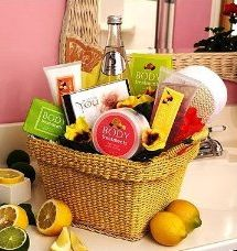 Citrus spa basket girlfriend gifts