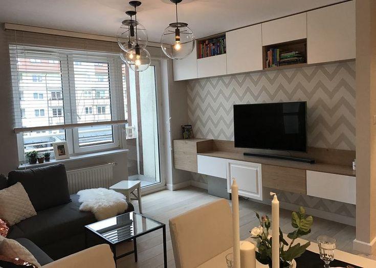 44m2-es másfél szobás lakás felújítás után - visszafogott, semleges színvilág, szimpla, élhető berendezés