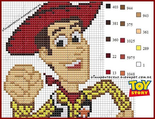Woody - Toy Story pattern by Dinha Ponto Cruz