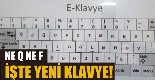 """Boğaziçi Üniversitesi'nde yapılan bir çalışma ile Türkçe'ye uygun """"E Klavye"""" geliştirildi."""
